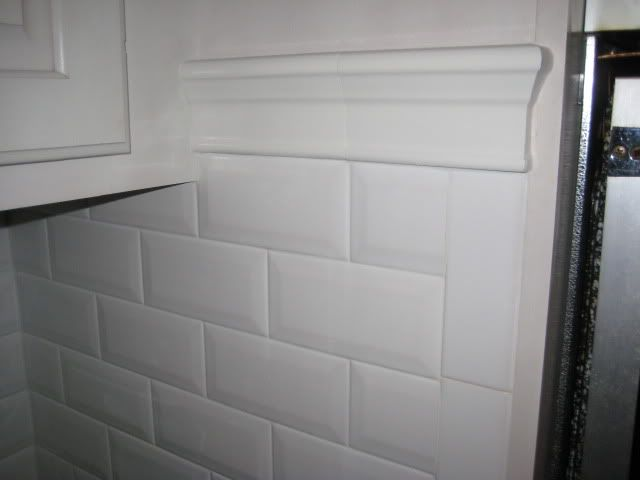 Beveled Edge Subway Tile Kitchen Backsplash | Used Lanka Beveled Subway  Tile In White For My Kitchen Backsplash .