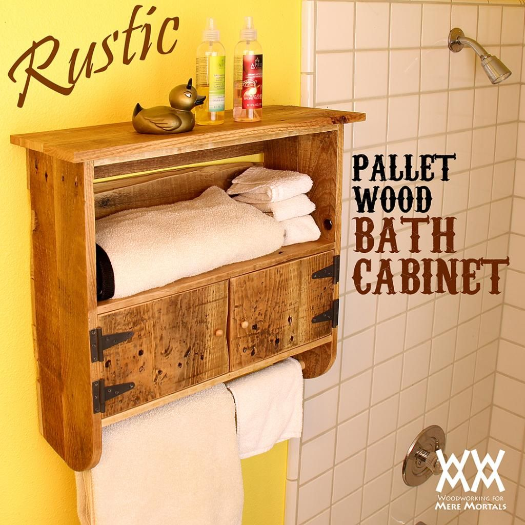 I Love The Way This Pallet Wood Bath Cabinet Turned Out Free Video And Plans Wood Pallets Pallet Diy Bath Cabinets