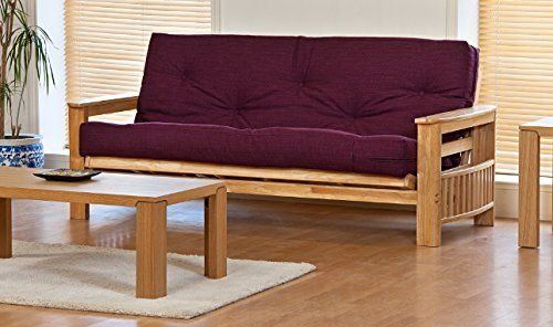 Jasmin 3 Seater Sofa Bed With Supreme Victoria Plum Futon Mattress