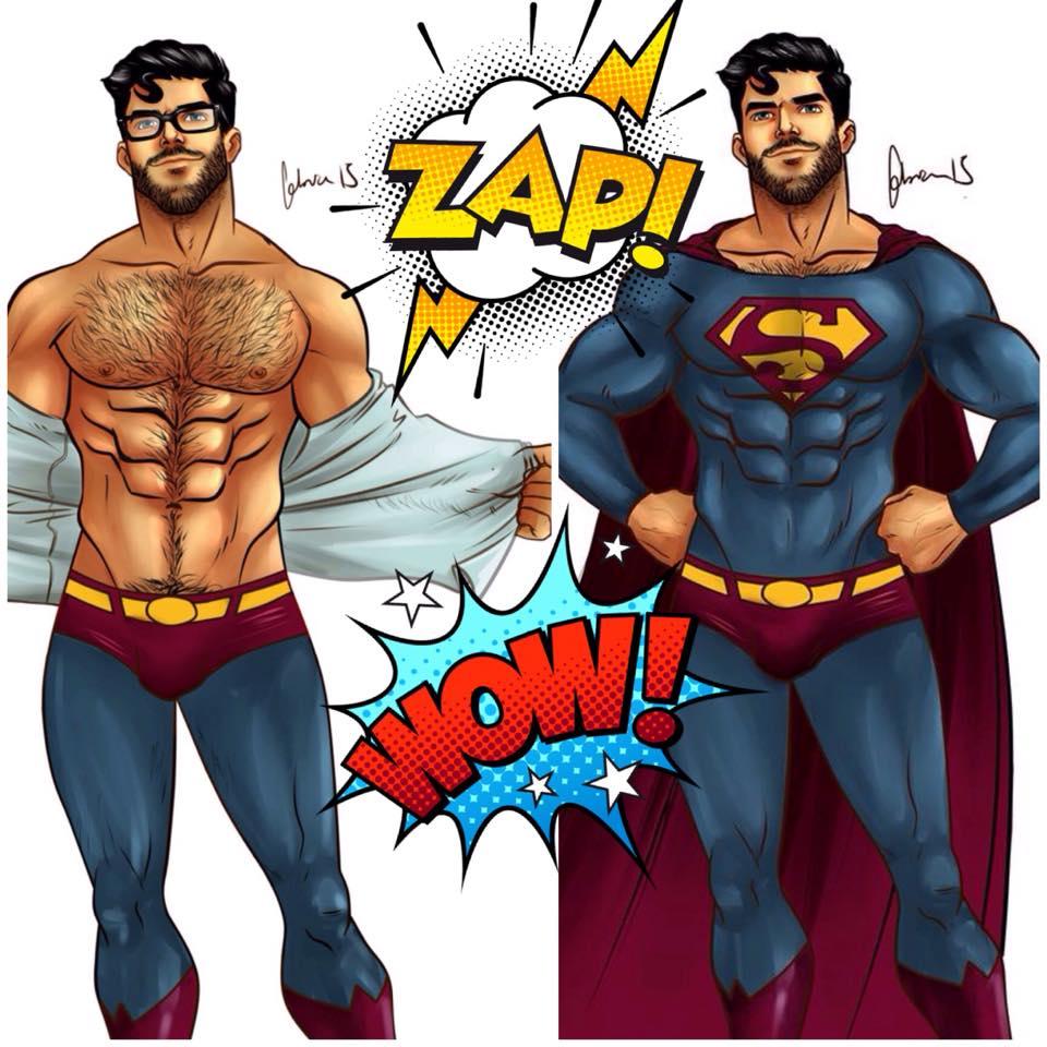 ILUSTRACIONES SUPERMAN GAY