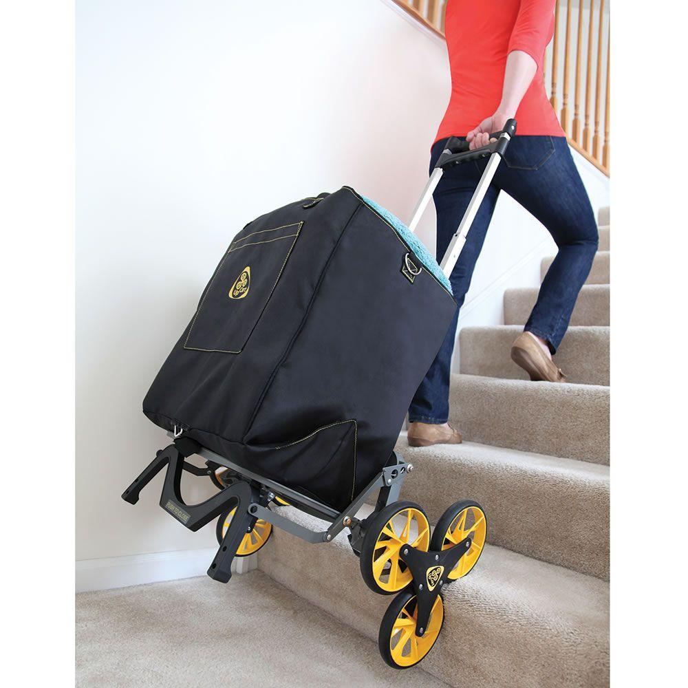 The Stair Stepping Smarter Cart Hammacher Schlemmer