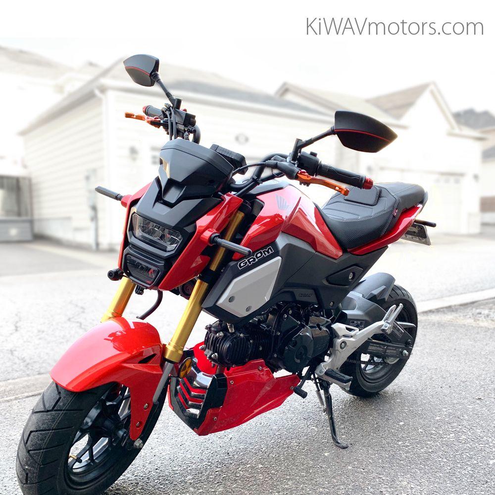 Mirrors Redline Mirrors Red Motorcycle Honda Grom Redline