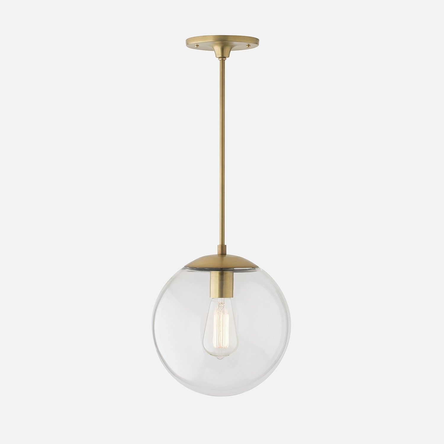 Luna Globe Pendant | Natural Brass | Schoolhouse Electric - Luna Globe Pendant Natural Brass Schoolhouse Electric