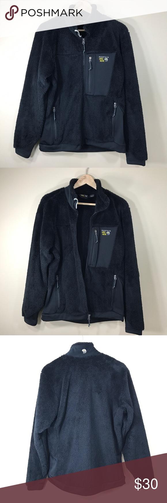 Mountain hardware black fleece jacket size l mountain hardwear