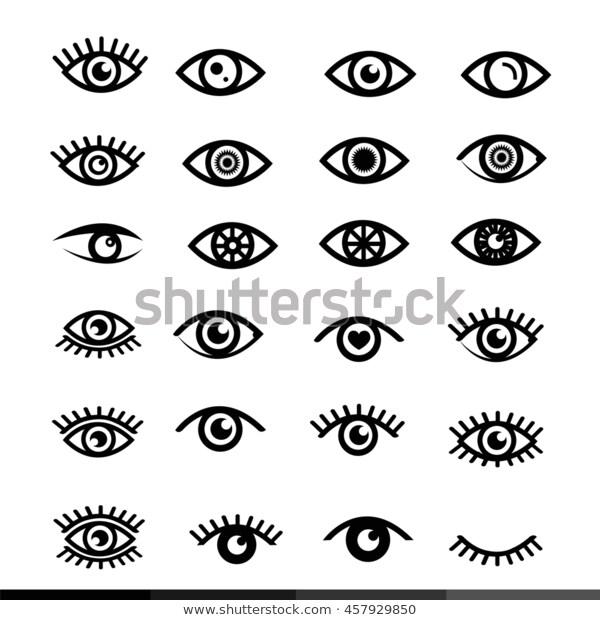 Eye Icon Set Illustration Design Stock Vector Royalty Free 457929850 Evil Eye Tattoo Third Eye Tattoos Eye Illustration