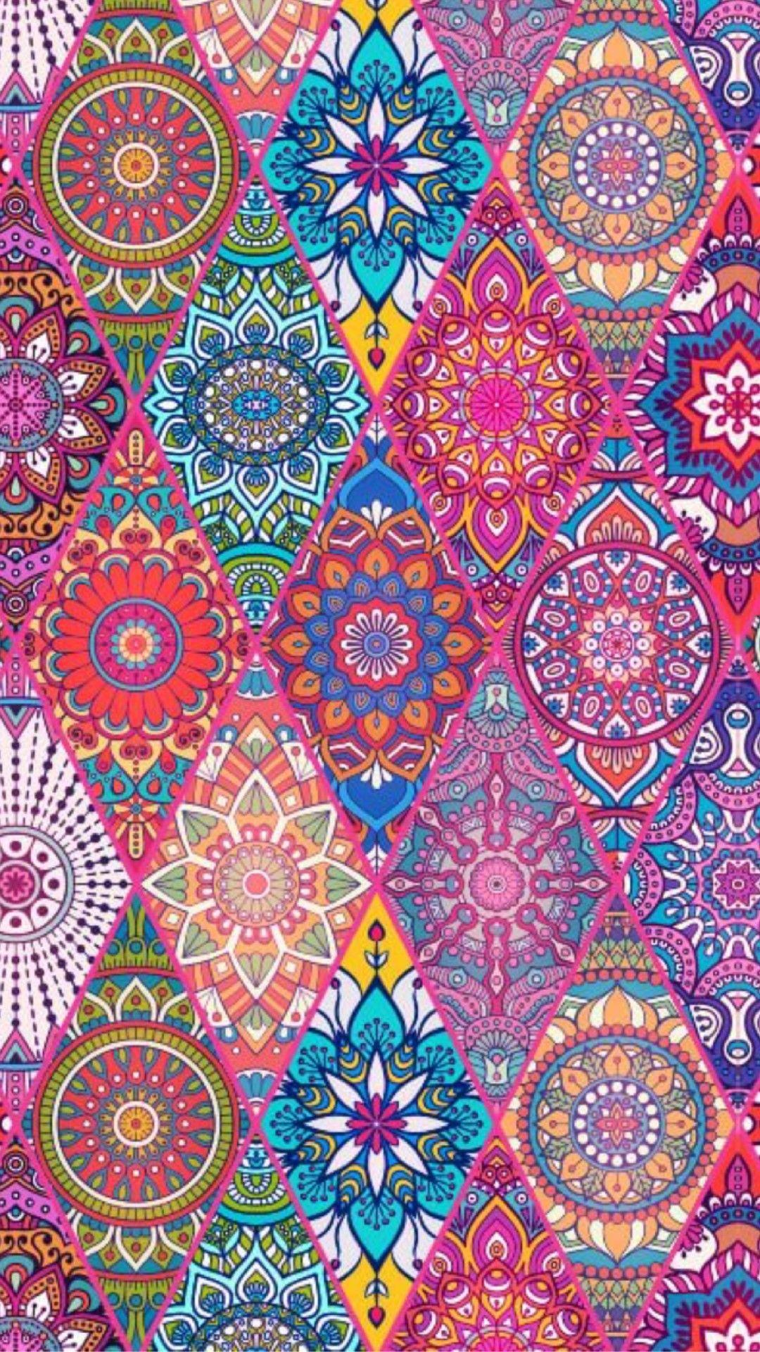 Colorful Pattern Wallpapaer Wallpaper Mobile Iphone Wallpaper Pattern Mandala Wallpaper Pattern Wallpaper