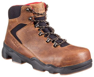 ROCKY MobiLite LT Waterproof Safety Toe Work Boots for Men - Brown - 13 W