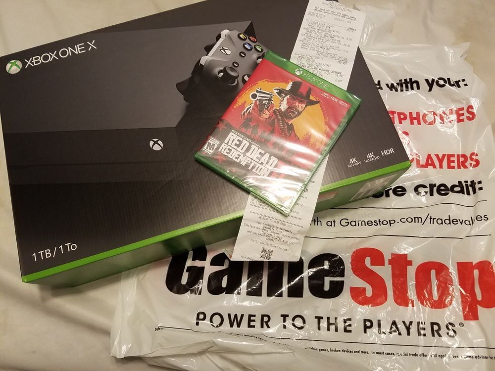 New and unopened Xbox One X w Red Dead Redemption 2 GameStop