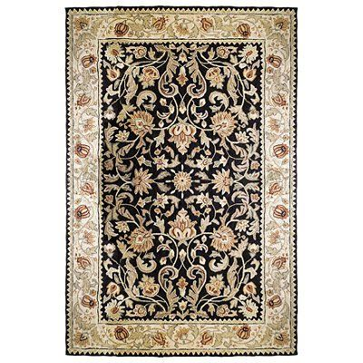 Gentry Ez Care Area Rug Off White Border With Black Center 26 X