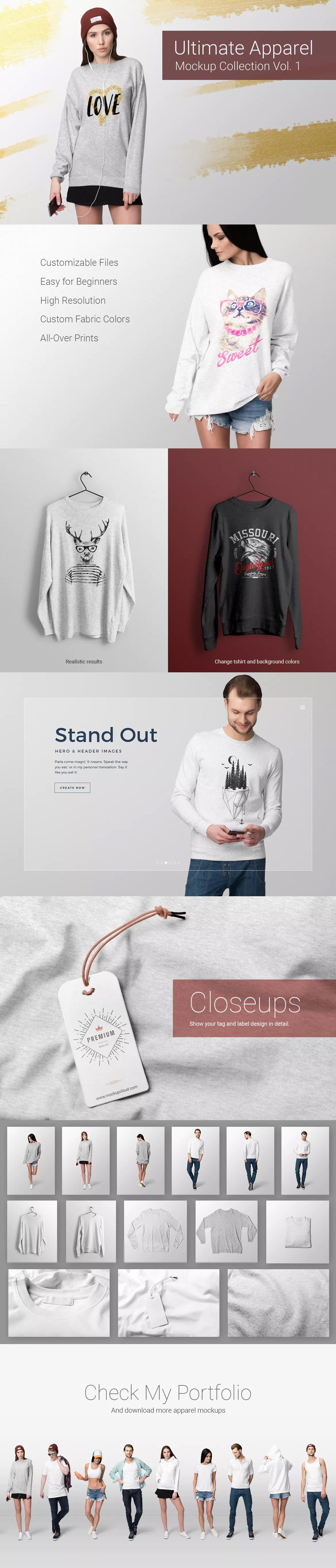 Download Ultimate Apparel Mockup Vol 7 By Genetic96 On Envato Elements Clothing Mockup Mockup Apparel