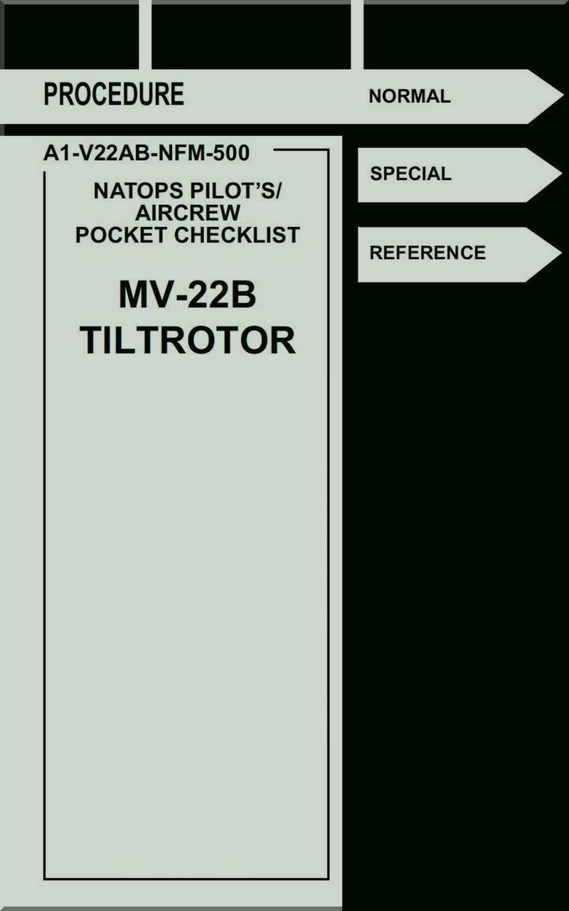 Boeing / Bell Helicopter MV-22 B TiltRotor Pilot's Aircrew
