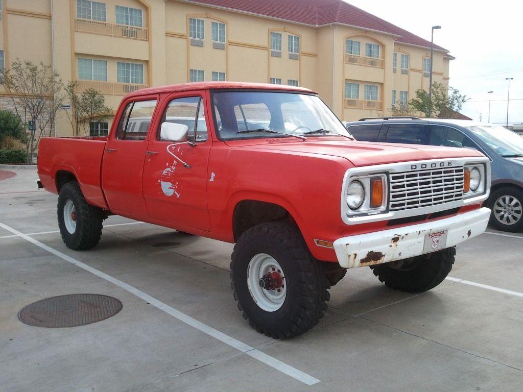 1978 W200 Crew Cab Old Dodge Trucks Dodge Trucks Power Wagon