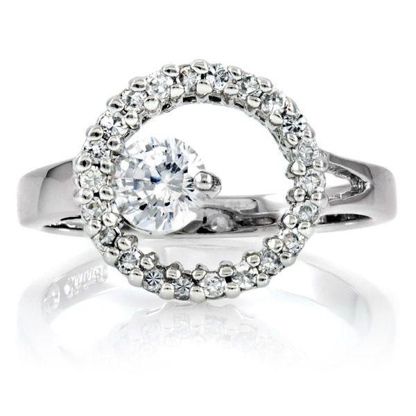 Wedding Engagement Ring Jewelry Dress Accessories Women Faux Diamond J