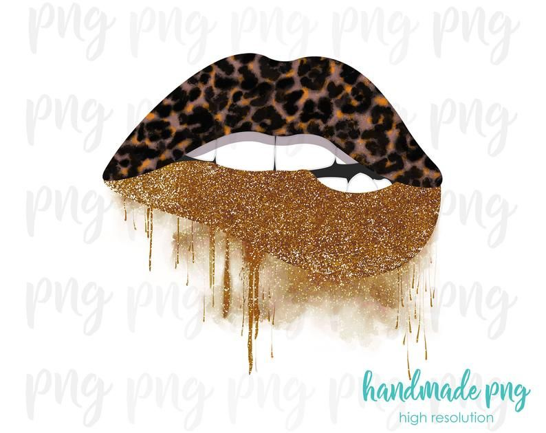 Dripping Lips Png With Leopard Print Leopard Lips Png Etsy Dripping Lips Print Digital Download Etsy