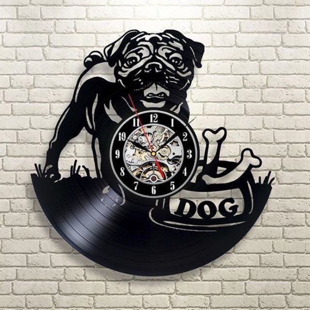 1piece Vintage 12 Inch Chihuahua Cute Friend Dog Custom Name House Pet Puppy Animal Wall Decor Vinyl Recor Wall Vinyl Decor Vinyl Record Clock Animal Kids Room