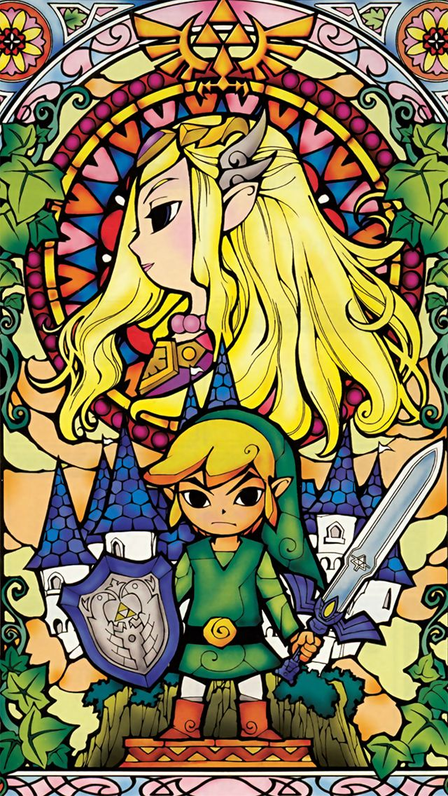 Zelda And Link IPhone 5 Wallpaper