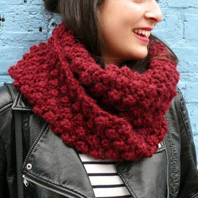 10 patrons pour tricoter ou crocheter un snood   Patrón de ganchillo ...