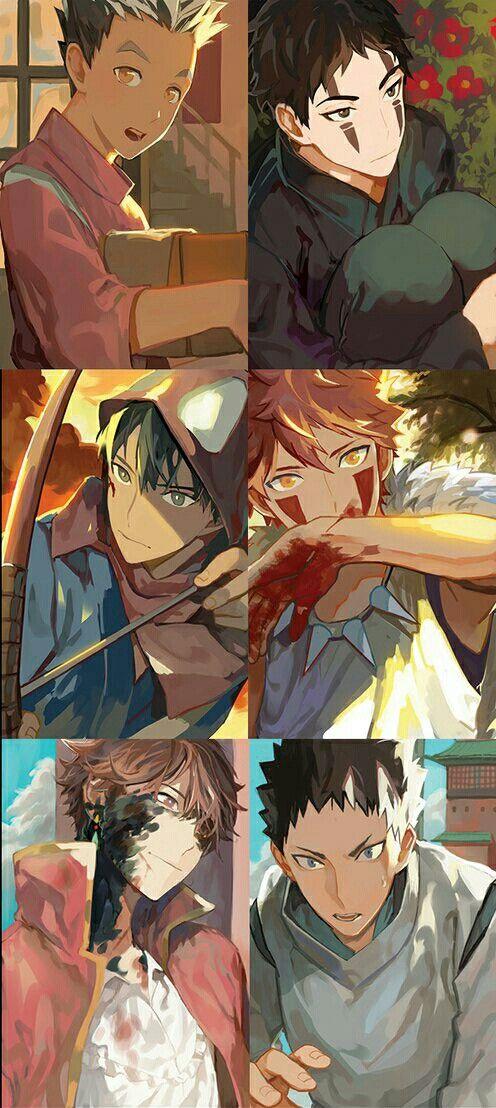 Haikyuu and Studio Ghibli 😭 BokuAka as Chihiro and No Face