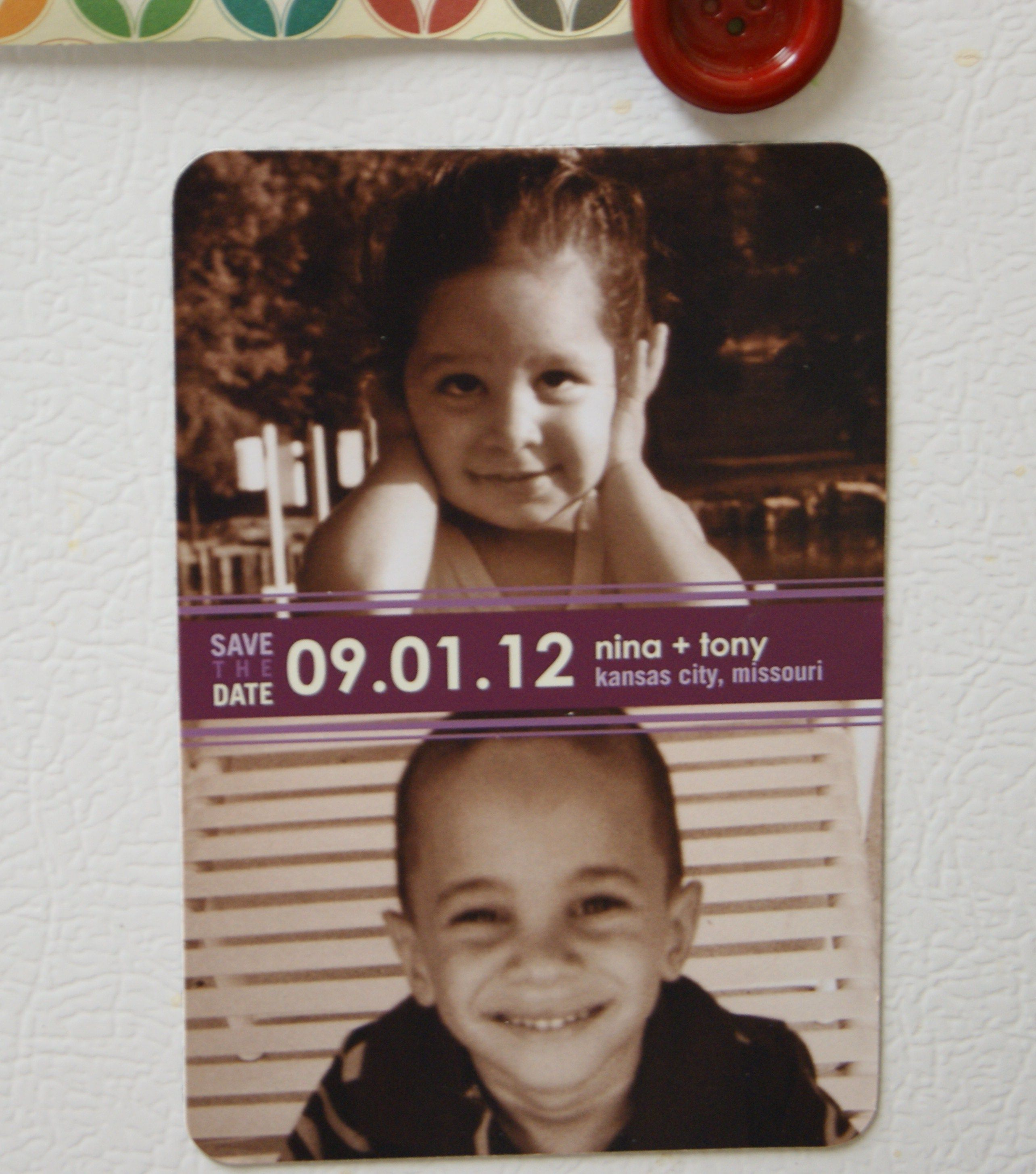 Childhood Save The Date Magnet