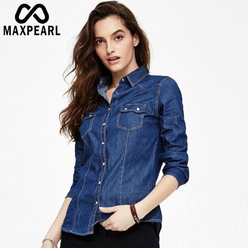 2017 fashion plus velvet women jean shirts denim blouse top warm
