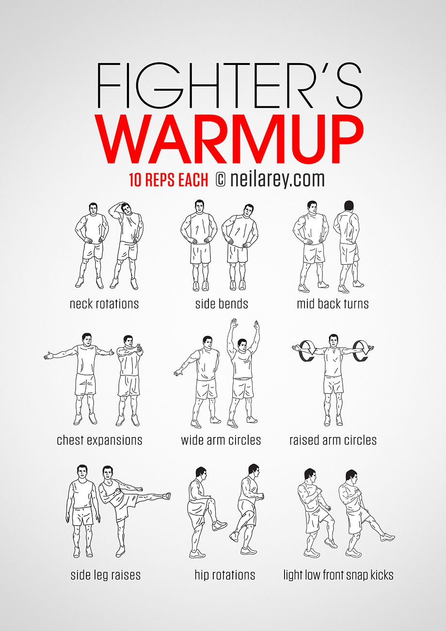 Fighter S Warmup Martial Arts Workout Mma Workout Kickboxing Workout
