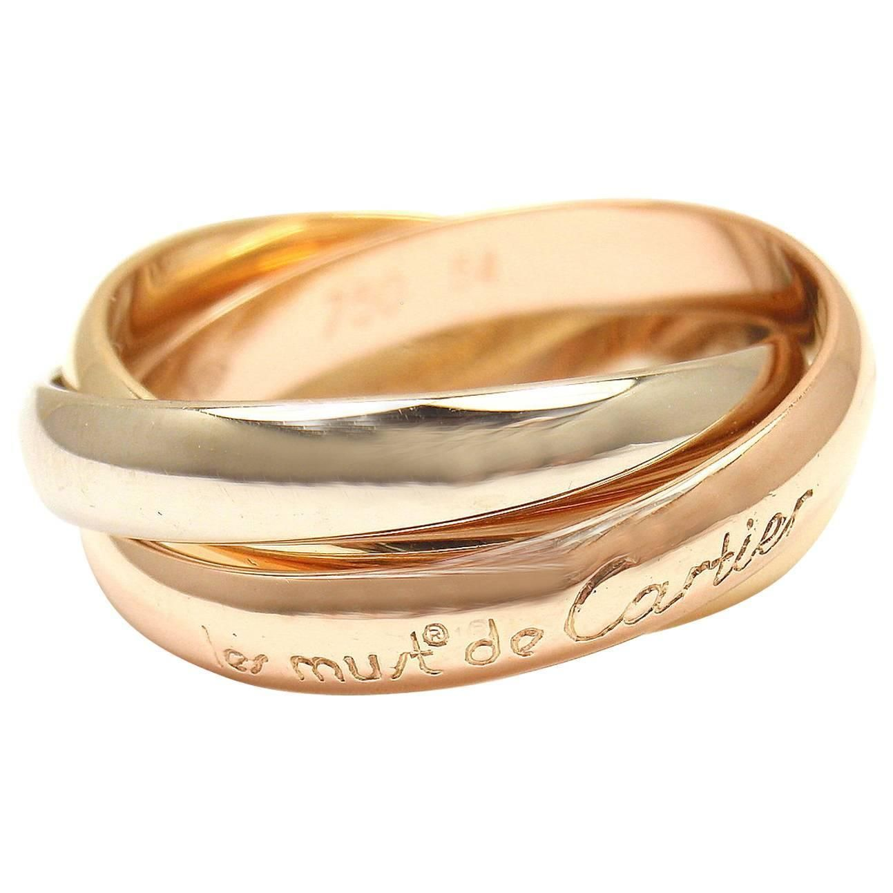 cartier ring 3 gold trinity