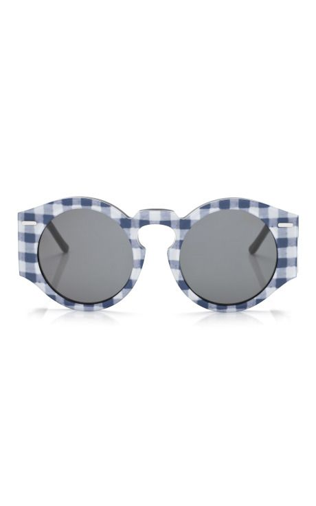 Aviator Sunglasses in Navy Gingham  e93b7834bb0
