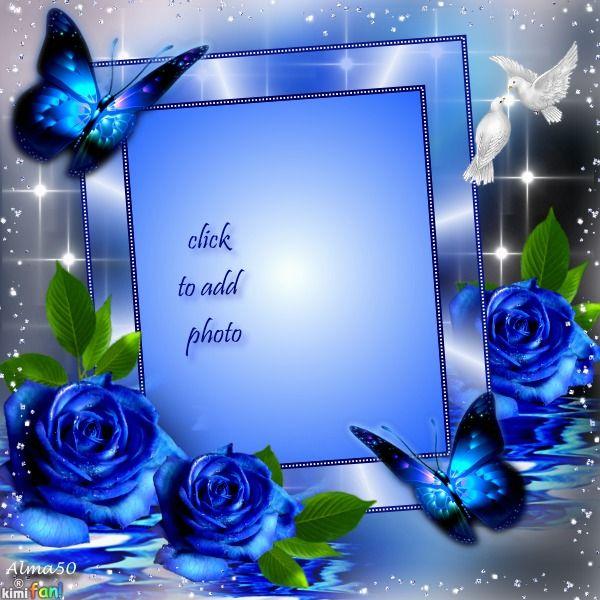 Blue Elegant | Flower background wallpaper