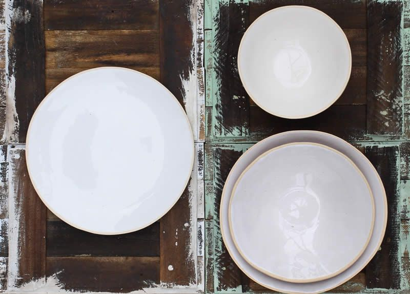 Wonki Ware photo gallery of dinnerware plates and bowls hand made by Di Marshall in & Wonki Ware photo gallery of dinnerware plates and bowls hand made ...