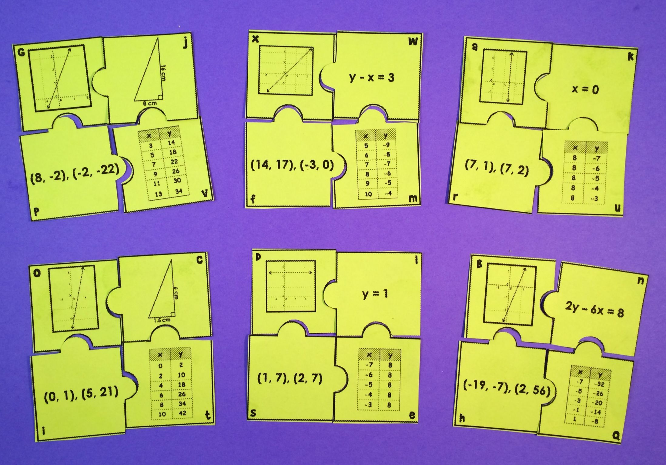 Slope Puzzle Activity With Images