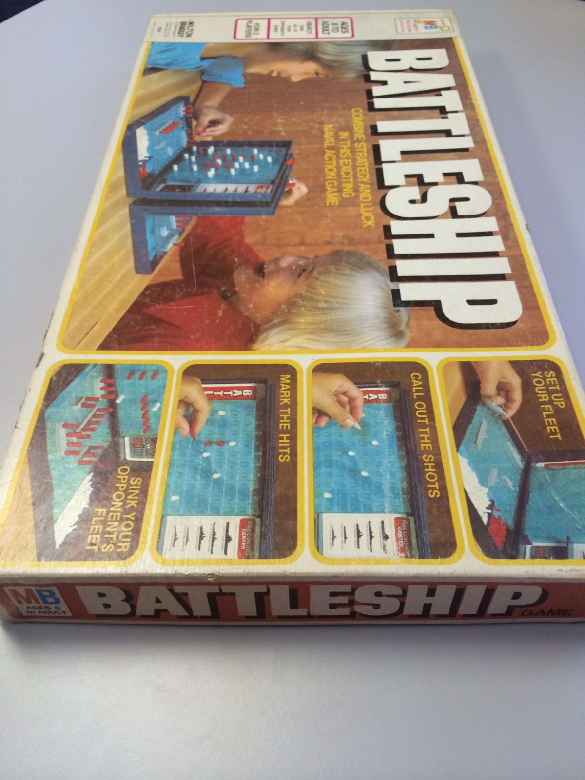 Battleship Table Game Milton Bradley 1978 Vintage