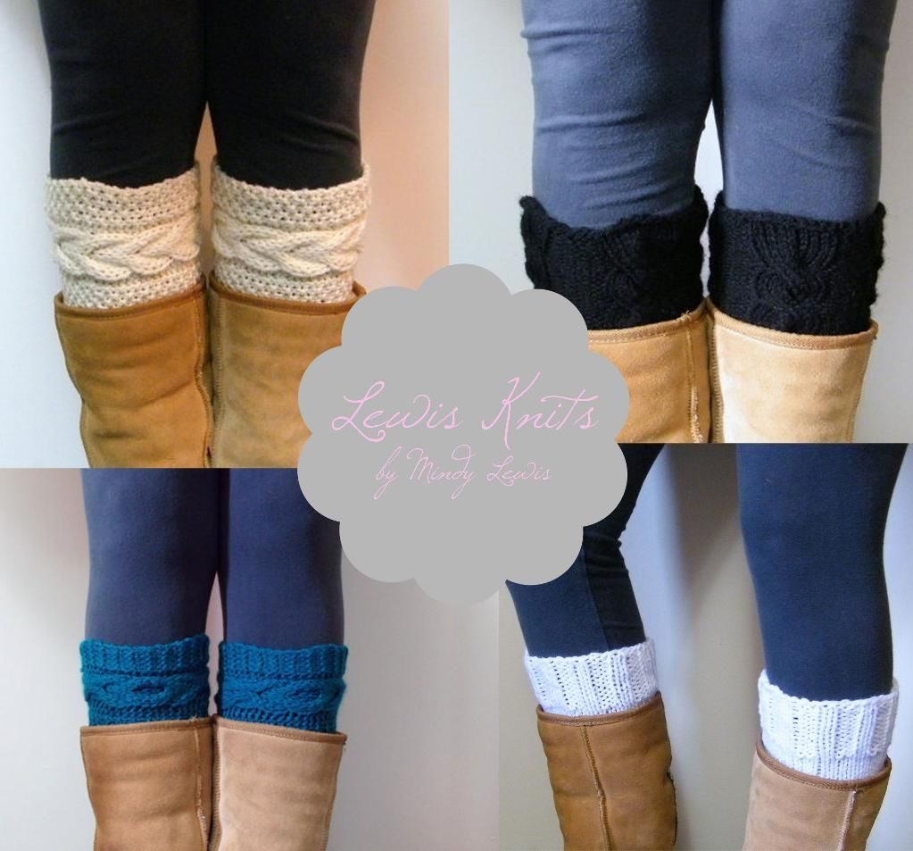 4 Boot Cuffs Knitting Patterns - 3 Cable Knit Boot Cuffs and 1 Basic ...