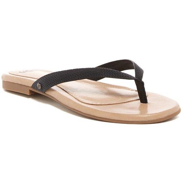 393cb13c3e2f7c UGG Australia Allaria II Braid Thong Flip-Flop ( 50) ❤ liked on Polyvore