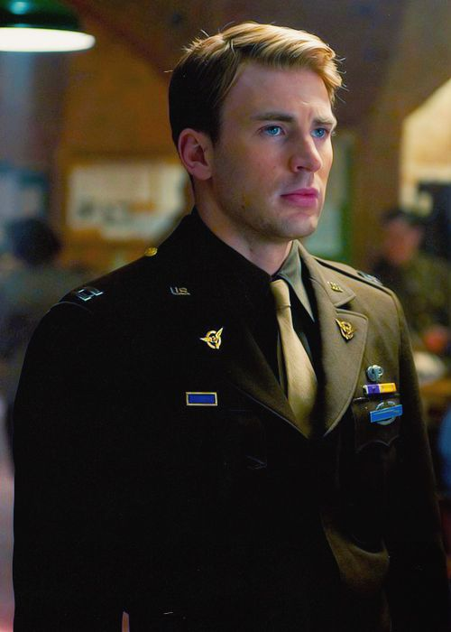 Still of Steve Rogers, portrayed by Chris Evans, on the set of ...