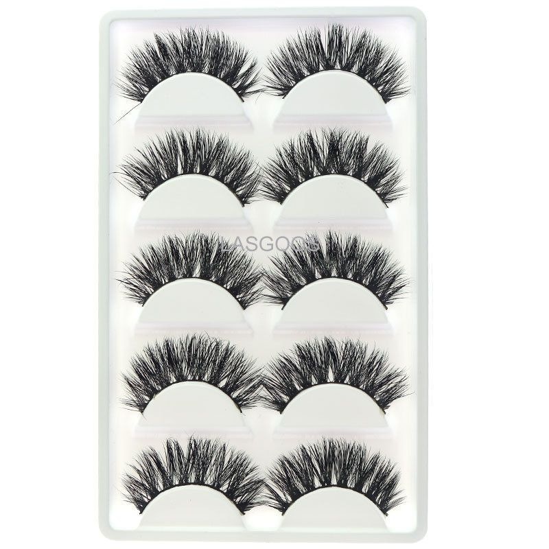 54c4b77c946 5 Pairs 3D Mink False Eyelashes LASGOOS Hot Sale Wispy Cross Fake Eye Lashes  K01#Eyelashes#LASGOOS#Hot