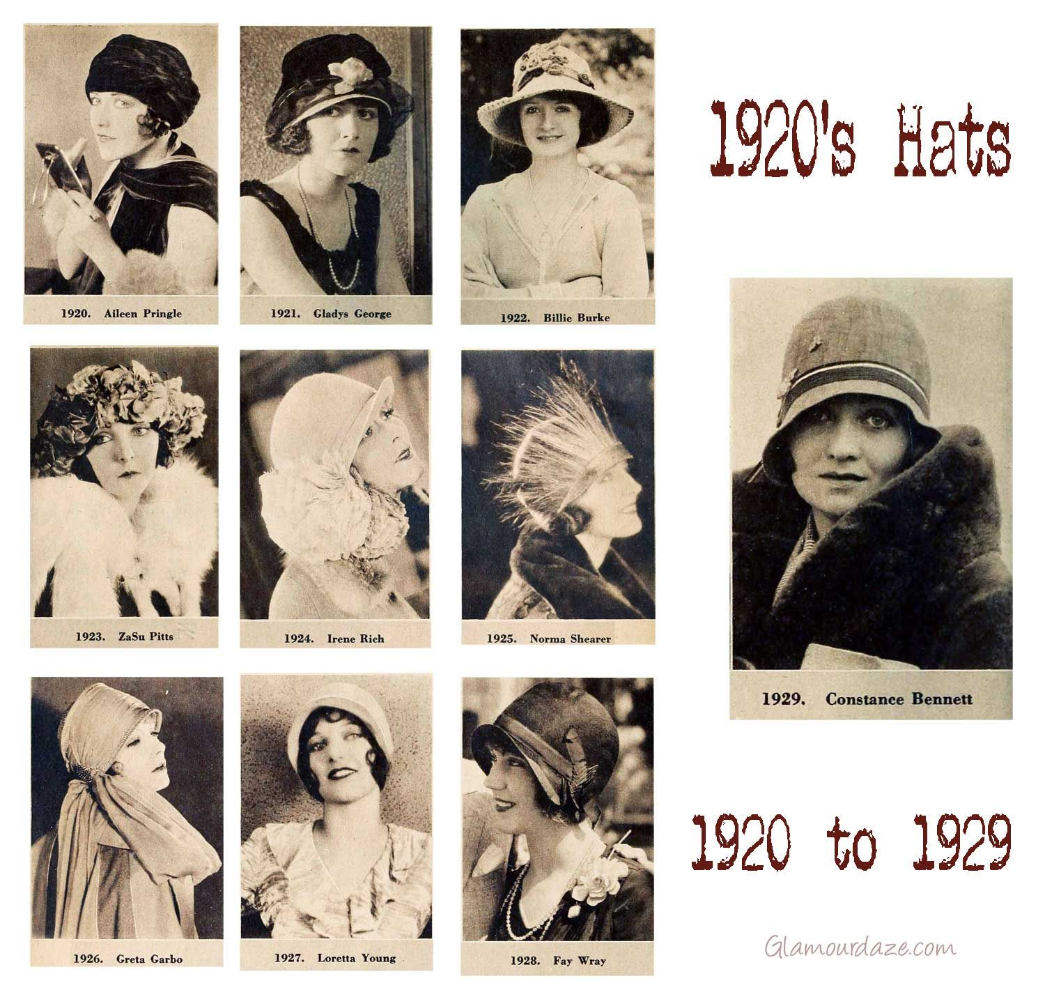 Fashion style Womens 1920s fashion hats for girls