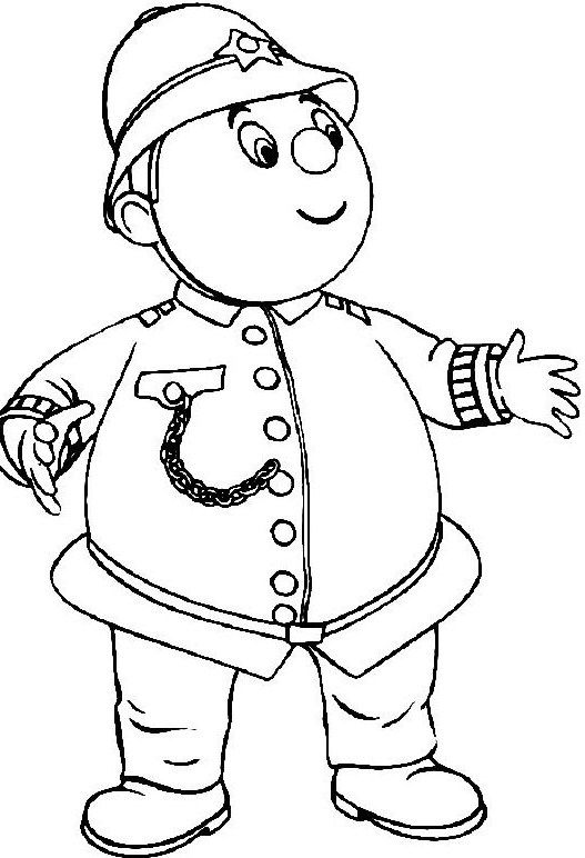 Pictures Lego Policeman Coloring Page