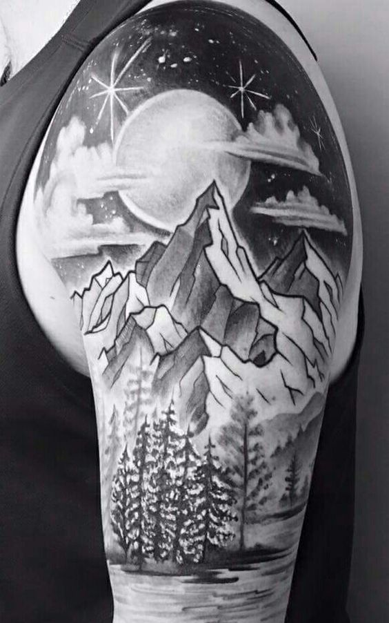 22 Awesome Mountain Tattoos That You Will Love