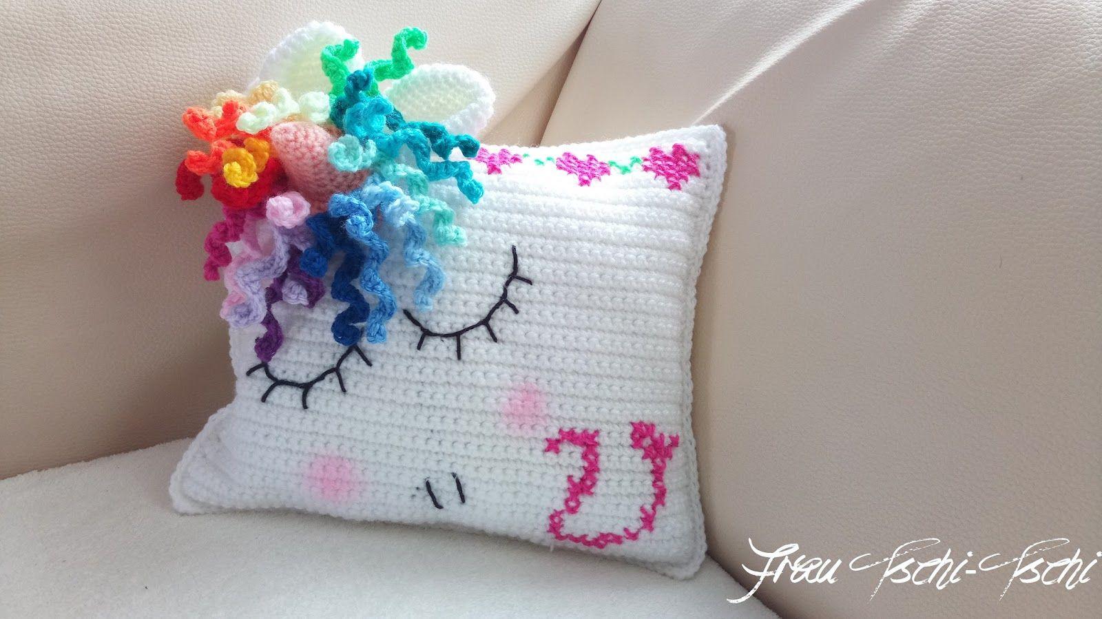 Einhorn Kissen Kostenlose Häkelanleitung Pillows Crochet