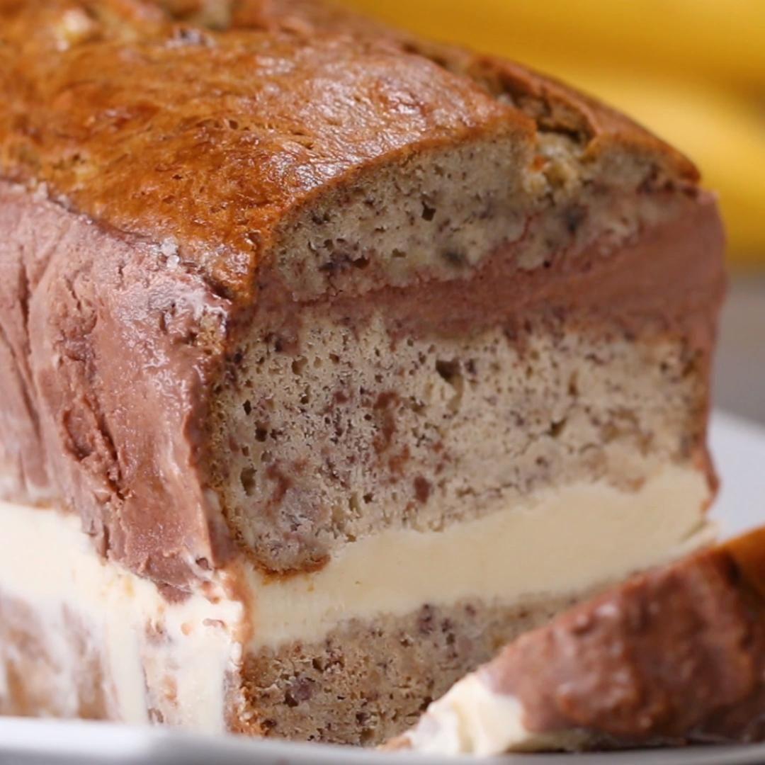 Bananenbrot-Eiscreme-Kuchen