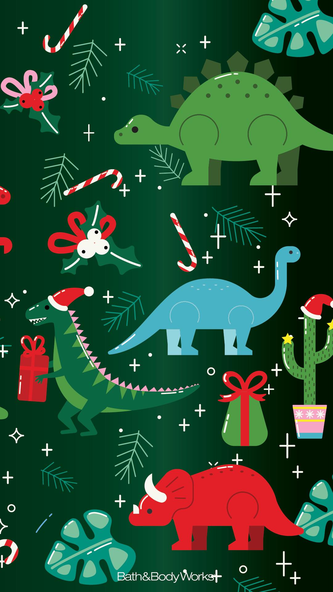 Christmas Dinosaur Wallpaper Christmas Tree Wallpaper Wallpaper Iphone Christmas Christmas Phone Wallpaper