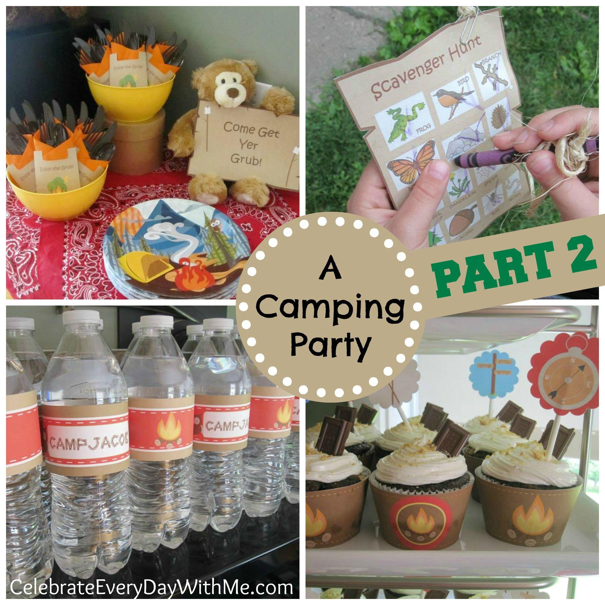 Camping-Birthday-Party-part-2.jpg 2,000×2,000 pixels   Boy ...
