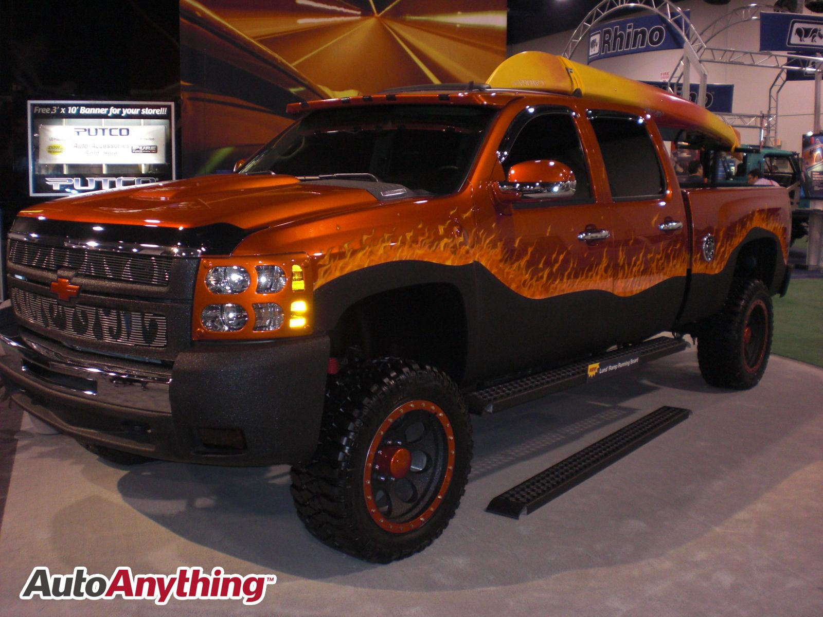 Chevy Silverado Flame Paint Job SEMA 2008 Truck paint