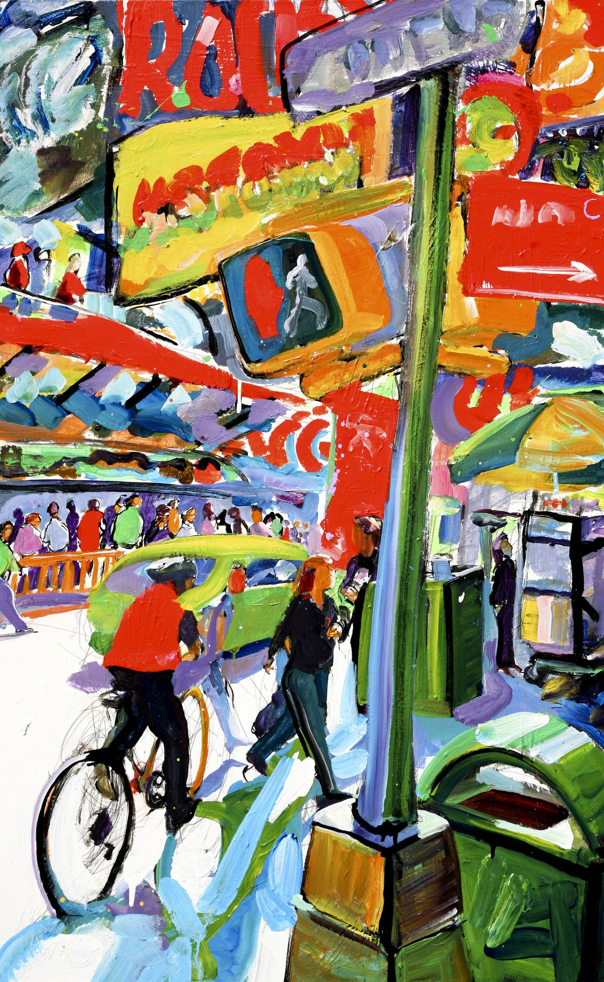 Comedy Central Guy In Times Square Galerie Barbara Von Stechow Germany Painting Art Comedy Central