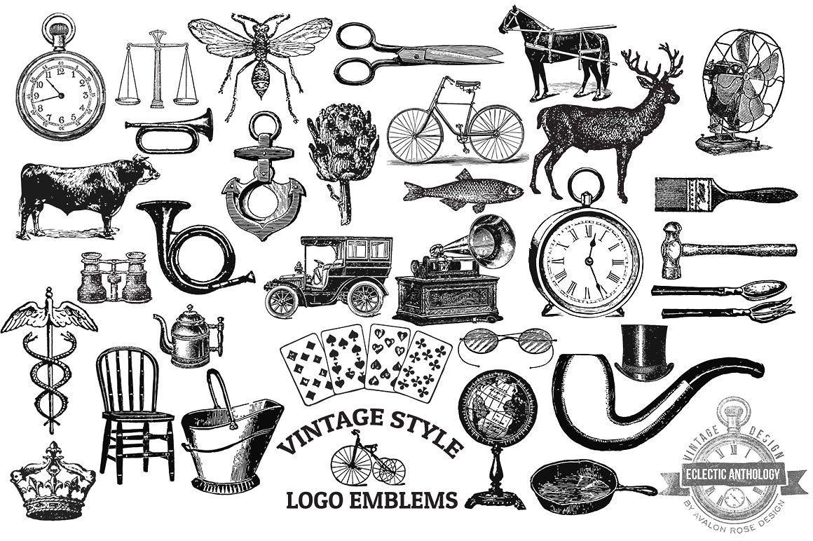 Vintage Bundle Of Wonder Vintage Graphics Creative Graphic Design Emblem Logo