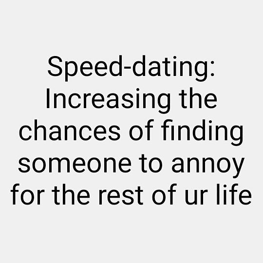 speed dating chances