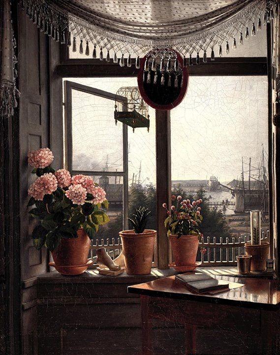 Vista dalla finestra 1825 Martinus Rørbye