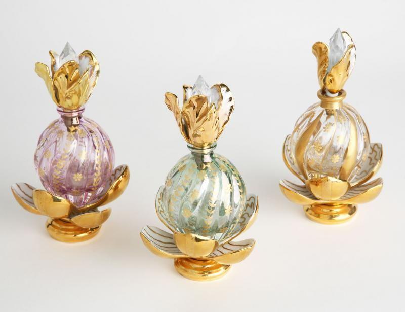 Perfume crystal bottles …