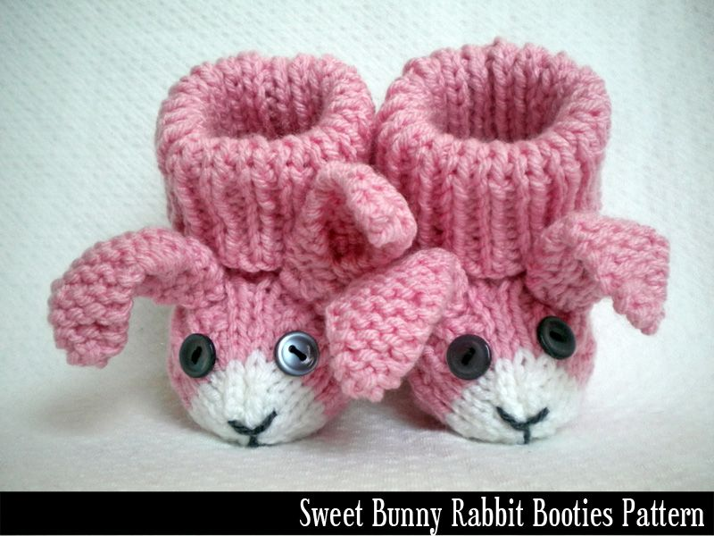 Knit Patterns Infinity Scarf : Bunny Rabbit Baby Booties Knitting Pattern. Maybe the ears and face idea on a...