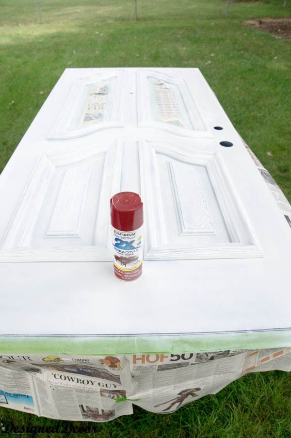 How To Spray Paint The Front Door Painted Exterior